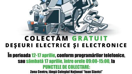 CAMPANIE DE COLECTARE A  DEȘEURILOR ELECTRICE ȘI ELECTRONICE!